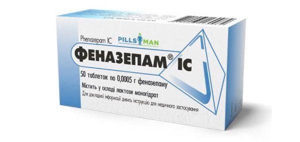 fenazepamas nuo hipertenzijos